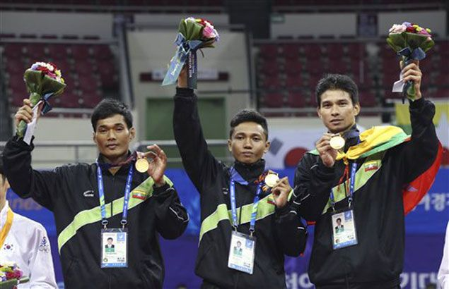 Surprising Myanmar cops two golds in sepak takraw to emerge top SEA country so far in Asian Games
