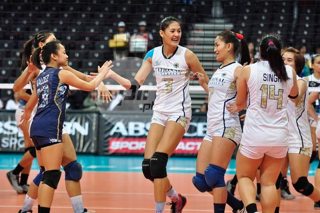 NU Lady Bulldogs down Adamson Lady Falcons to secure spot in playoffs with one match to spare
