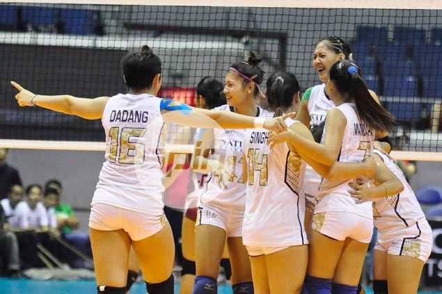 NU Lady Bulldogs overcome UP Lady Maroons in five for first win in UAAP volley