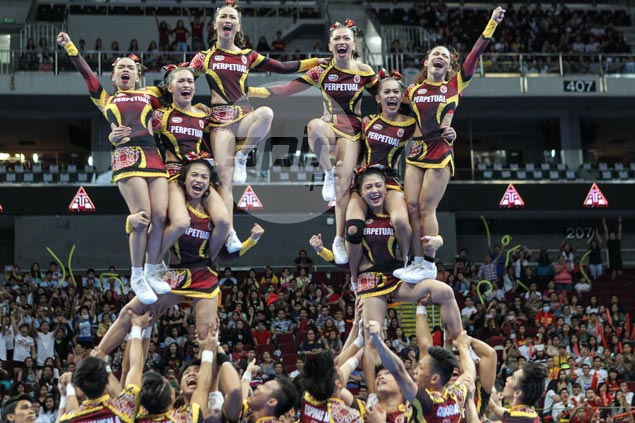 Perpetual seeks to continue reign, Arellano looks to regain top spot in NCAA cheerleading