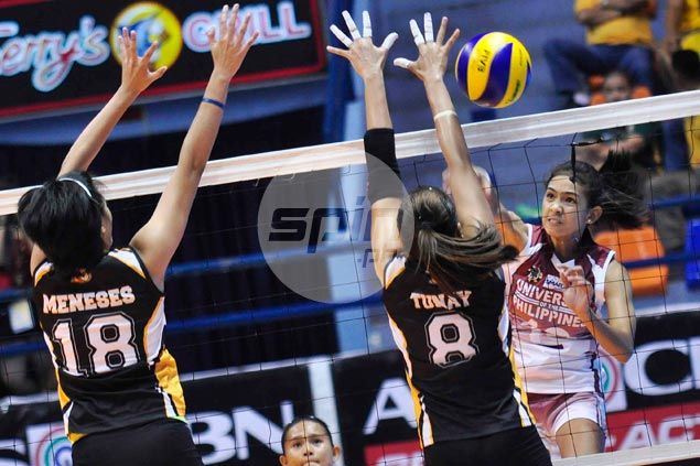 Nicole Tiamzon shines as UP Lady Maroons overcome UST Tigresses for first win in UAAP volley