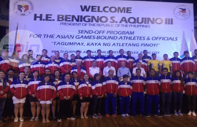 President Aquino urges PH delegation to Asiad:`Emulate Gilas' showing in Fiba World Cup'