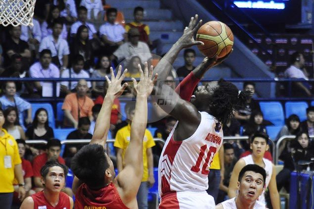 San Beda back in familar place at top after surviving huge scare from lowly Stags