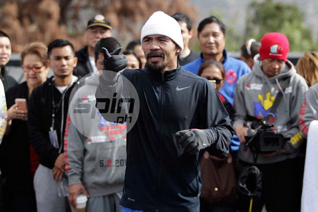 Stress-free Pacquiao can't wait to get it on with Mayweather: 'Para magkaalaman na'