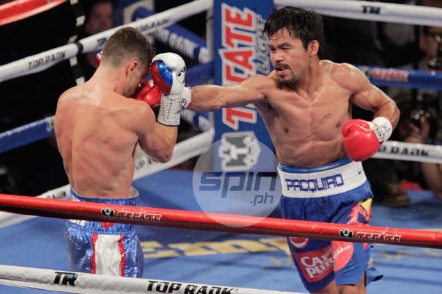 Manny Pacquiao turns on the style, knocks Algieri down six times on way to lopsided win