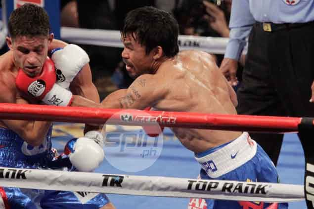Hours of work on heavy bag pay off as Pacman shows renewed punching power
