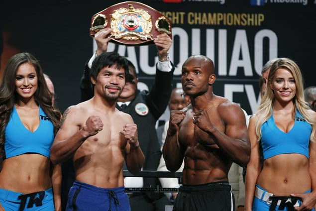 'Loaded' Manny Pacquiao easily makes weight for third fight against Tim Bradley