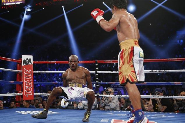 Manny Pacquiao knocks down Tim Bradley twice on way to unanimous decision victory