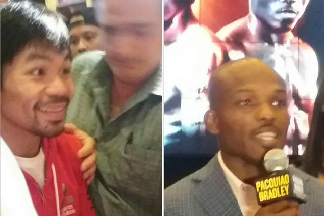 Pacquiao, Bradley arrive at MGM Grand in Las Vegas