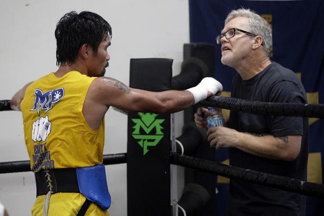Pacquiao buildup for Horn fight shifts to high gear with Freddie Roach in town