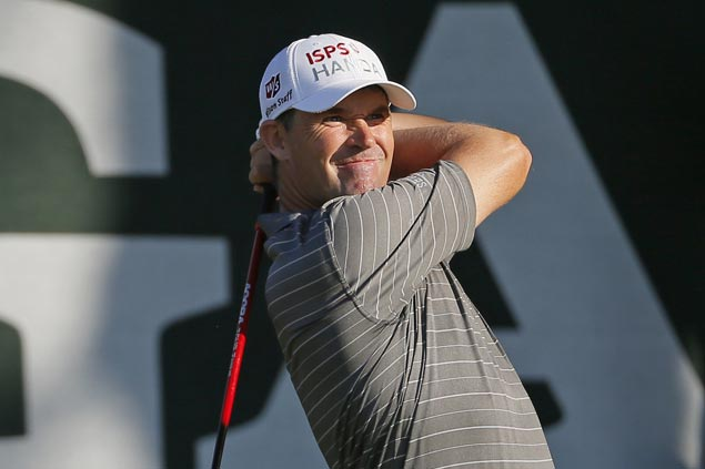 Former PGA champion Padraig Harrington makes move before rains sweep through Baltusrol