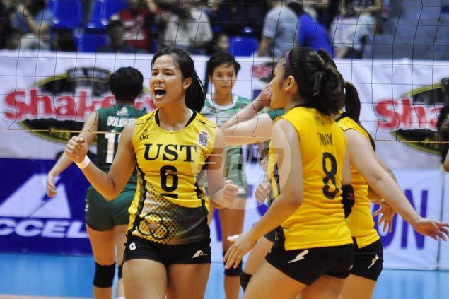Pam Lastimosa steady down the stretch as UST Tigresses edge CSB Blazers in five sets