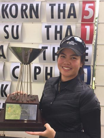 Pauline del Rosario overcomes late slip to rule Thailand Ladies Amateur Open