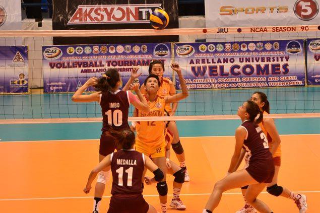 Arellano, San Sebastian set up title showdown in NCAA women's volleyball