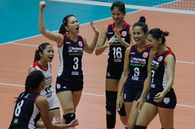 Blaze Spikers stretch streak to five, gain share of Super Liga lead with victory over Tornadoes