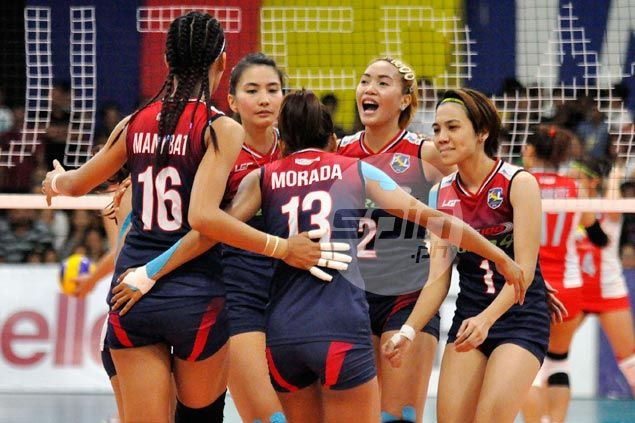 Petron one win away from Super Liga tournament sweep after whipping Shopinas in finals opener