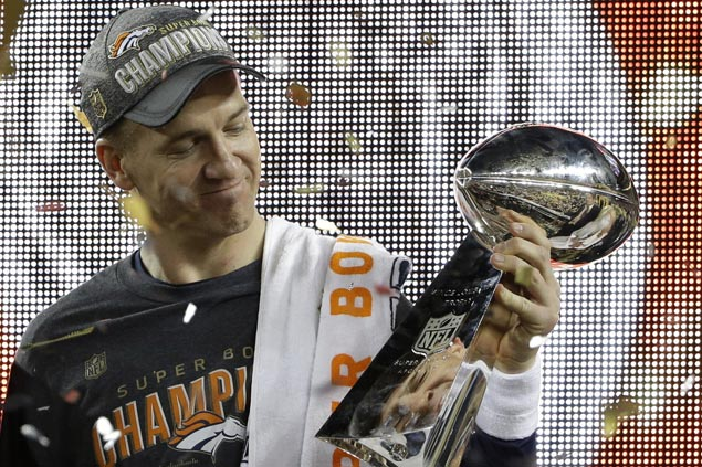 Peyton Manning creaky and off-target at times but Broncos defense helps him ride off with another Super Bowl title