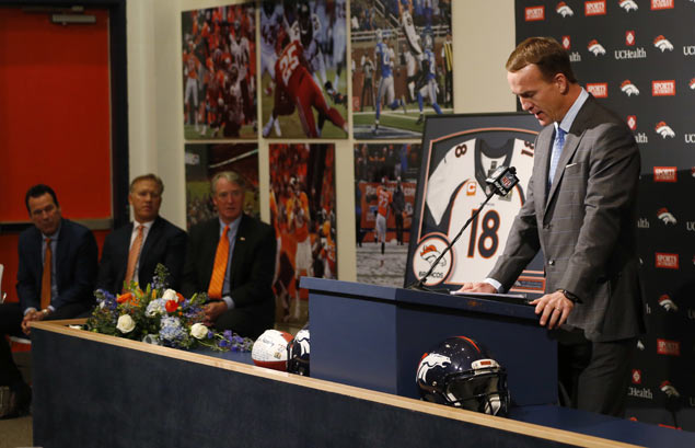Maybe a front office or a broadcast booth beckons, what's sure is Peyton Manning won't be moving out of Denver