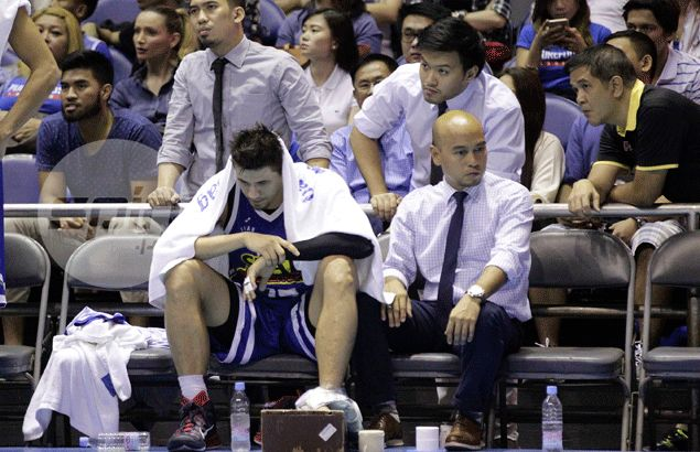 Purefoods therapists hard at work during Lenten break to bring Marc Pingris back to top shape