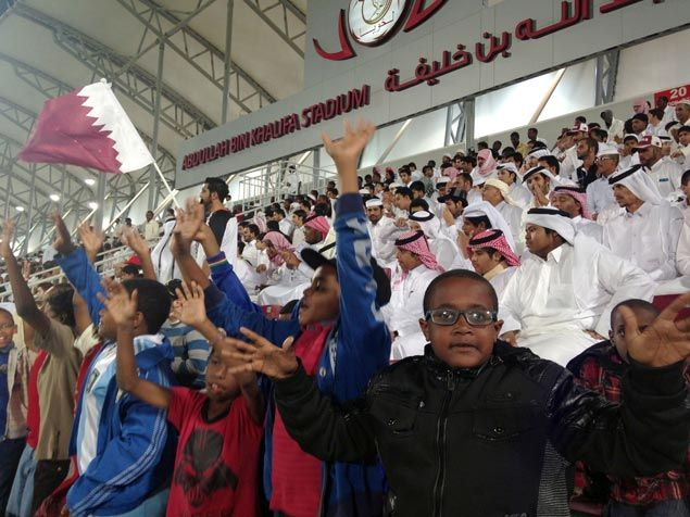 Migrant workers in Qatar need not pay to watch sports, they're paid to fill up the empty stadiums