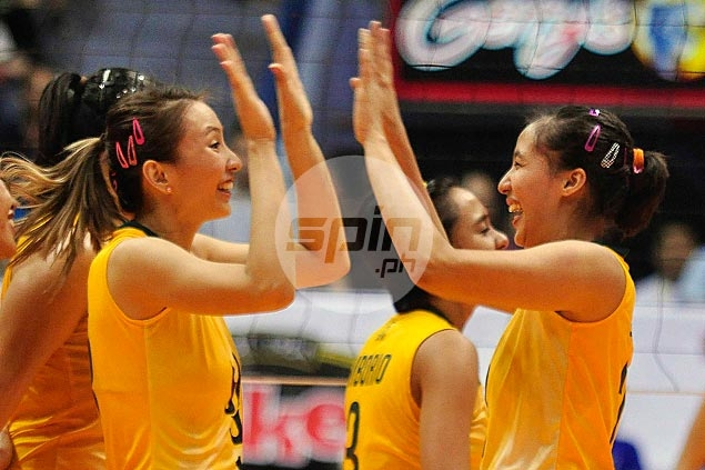 FEU Lady Tamaraws one win away from V-League title after downing NU Lady Bulldogs in straight sets