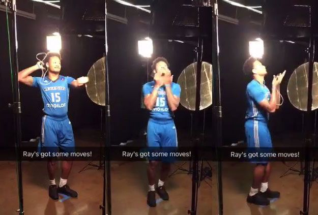 WATCH Ray Parks shows off some of his 'moves' during media day with the Texas Legends