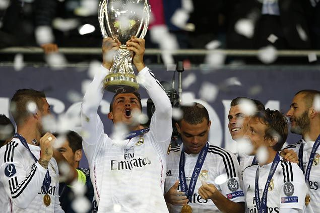 Cristiano Ronaldo hits brace as Real Madrid downs Sevilla to clinch Uefa Super Cup