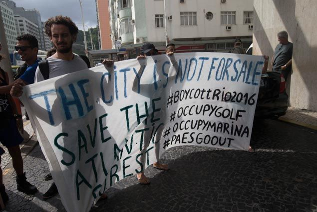 Rio rocked as IOC, Olympics targeted by environmental protest