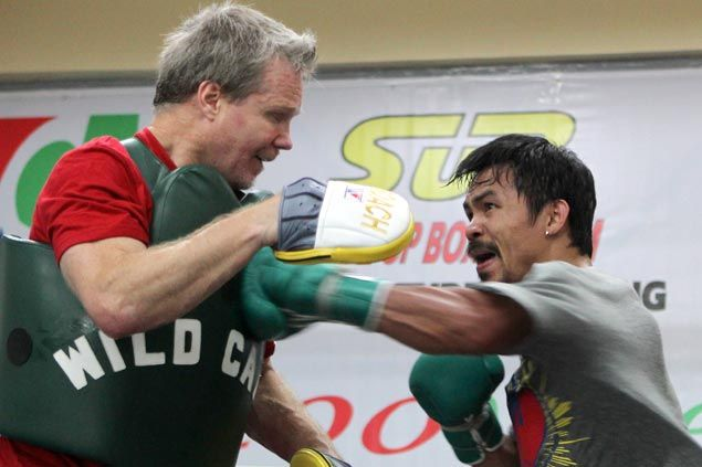 Freddie Roach glad to see Pacquiao rounding into form after just a week of intensive training