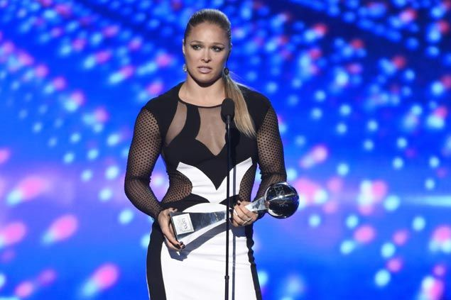 Well worth the wait for ESPYs Best Fighter Ronda Rousey as she finally fires back at Floyd Mayweather