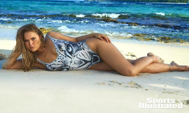 Nothing but paint on Ronda Rousey as SI Swimsuit unveils three separate covers