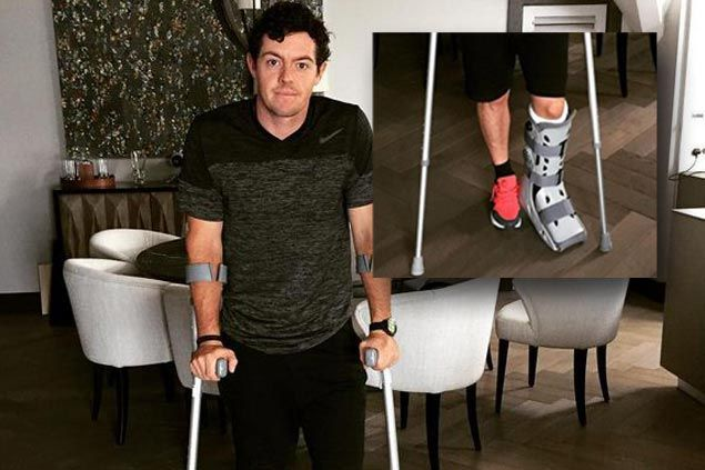 Major disaster as Rory McIlroy suffers ankle injury playing soccer a week before British Open