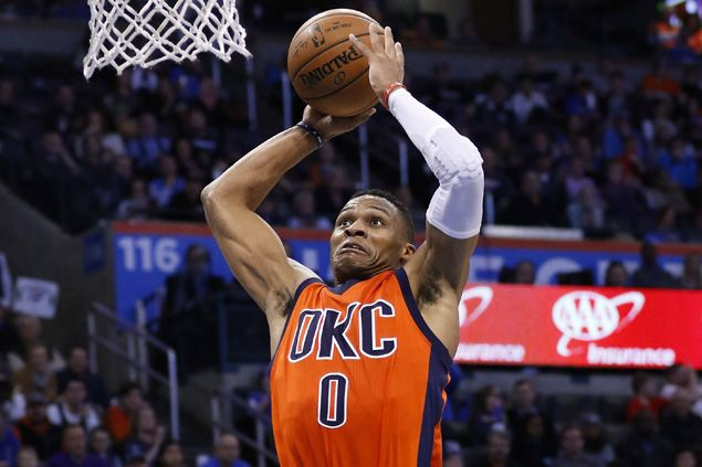 Russell Westbrook flirts with triple double as Thunder down struggling Nuggets