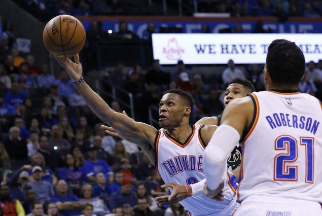 Four OKC players combine for 92 points as Thunder turn back Bucks
