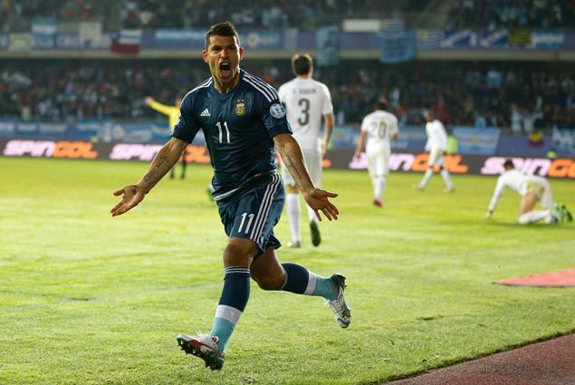 Sergio Aguero scores in second half to power Argentina over Uruguay in Copa America