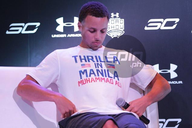 Feeling is mutual as Steph Curry shows some Manila love by wearing 'Thrilla in Manila' shirt