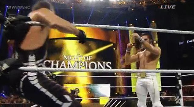 WATCH WWE wrestler Sting suffers neck injury in Night of Champions match against Seth Rollins