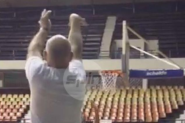 WATCH: Gilas coach Tab Baldwin displays sweet stroke in shooting practice