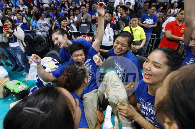 Lady Eagles glad to score quick finish to title series and allow coach Tai Bundit well-deserved trip home
