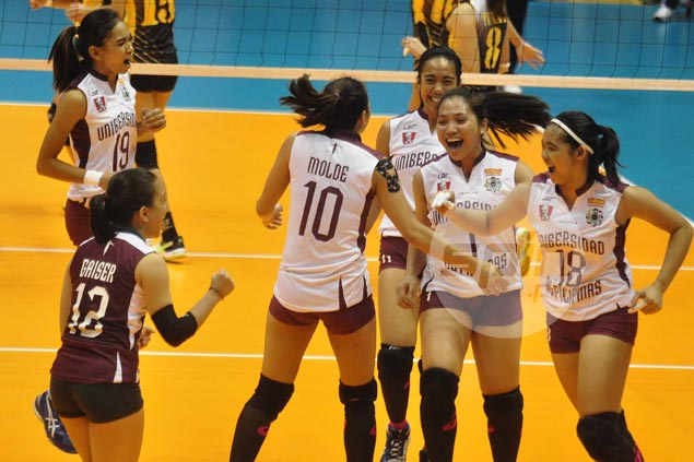 UP Lady Maroons down UST Tigresses in four to gain share of fourth spot in UAAP women's volleyball