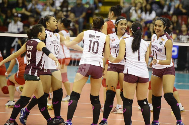 UP Lady Maroons bounce back, tighten grip on third spot and keep UE Lady Warriors winless
