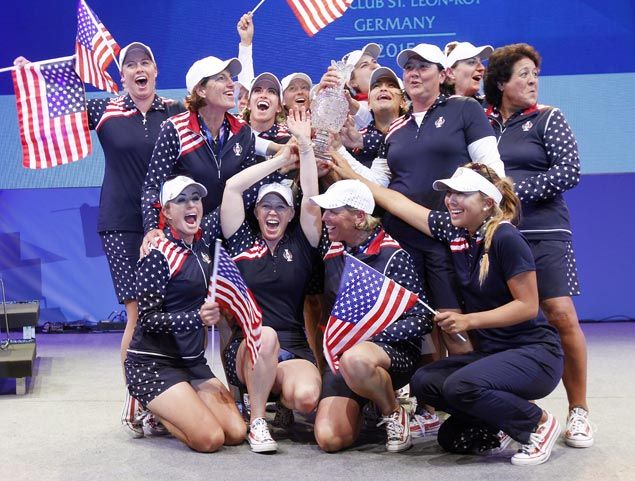 Fired up by controversial call, US stages biggest comeback in Solheim Cup history to take trophy back from Europe