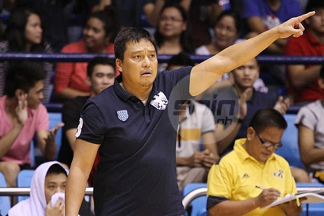 JRU coach Vergel Meneses reminds Bombers not to relax even as they face cellar-dwelling Mapua Cardinals