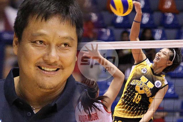 PH spiker Ria Meneses gets some words of encouragement from esteemed uncle Vergel