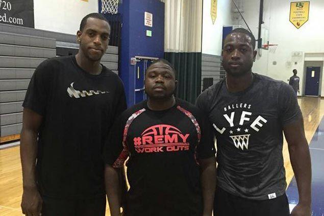 Heat star Dwyane Wade does skills training with Bucks' Khris Middleton
