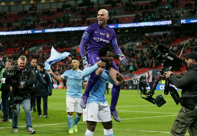 Willy Caballero shines as City clinches League Cup with victory on penalties over Liverpool