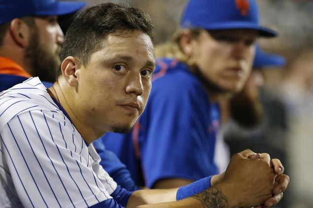 WATCH Major League rookie Wilmer Flores plays on but fails to hold back tears after learning of impending trade
