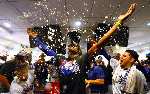Dodgers clinch National League West title with rout of Giants