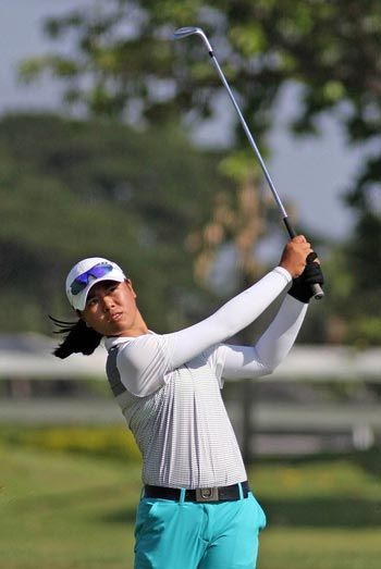 Fourteen-year-old amateur Yuka Saso fires 67 to take one-stroke lead in Southwoods Ladies Classic