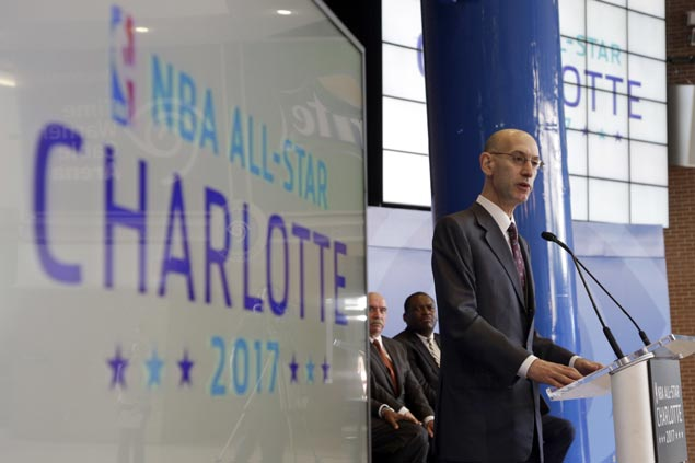 NBA moves 2017 All-Star Game out of Charlotte, cites objection to North Carolina's LGBT law